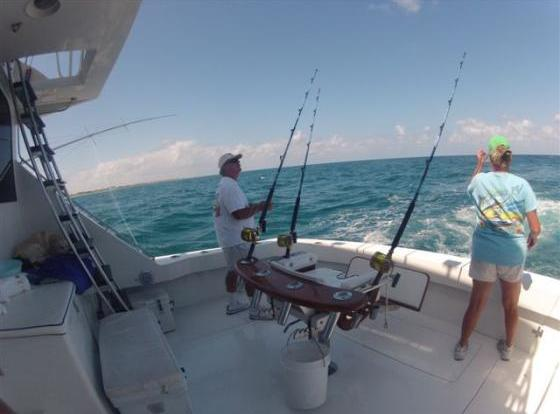 sunny day fishing on the Geno 4 charter