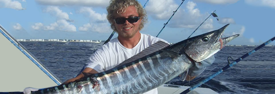 large wahoo caught on Geno IV Lantana, Boynton Beach fishing charter