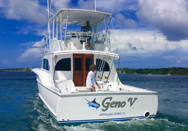 Luxury fishing charter, S Florida